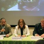 Luis del Río- World Vision, Lorena Vazquez - Hunger Project y Manuel Mendoza - Un Kilo de Ayuda