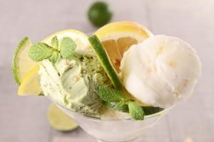 Sorbete de limón con yogur