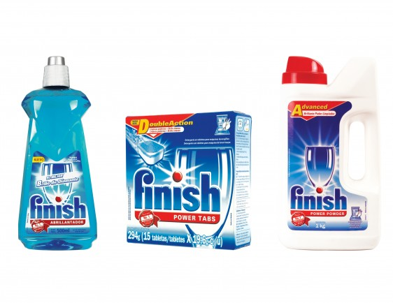 Kit con productos Finish