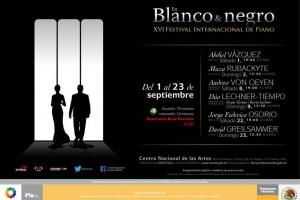 Este festival, que históricamente se ha caracterizado por presentar lo mejor de la tradición pianística mundial, inicia el sábado 1 de septiembre, a las 19:00 horas.