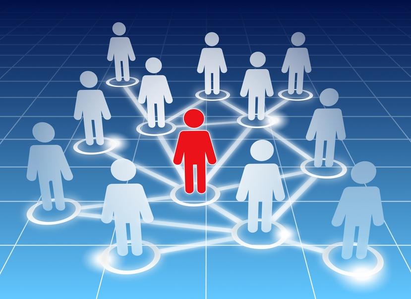 iconos de personas interconectadas