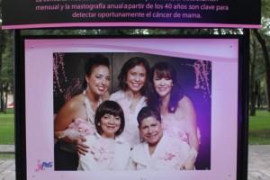 """En Avenida Reforma frente al Mueso Rufino Tamayo,  en la ciudad de México, podrás visitar la exposición fotográfica """"Está en tus Manos"""", conformada por una serie de fotografías y testimonios de mujeres que han sobrevivido al cáncer de mama."""