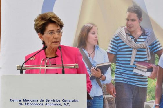 •La Secretaria de Salud, Mercedes Juan, inauguró esta jornada. FOTO. SSA-