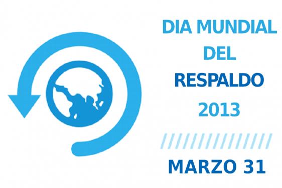 Logotipo con leyendia día mundial del respaldo 2013