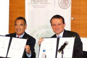 Firma convenio Cofepris y Profeco 20130408