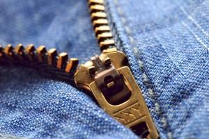 zipper en un jean