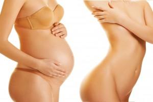 Cuerpo de mujer antes y despues de un embarazo