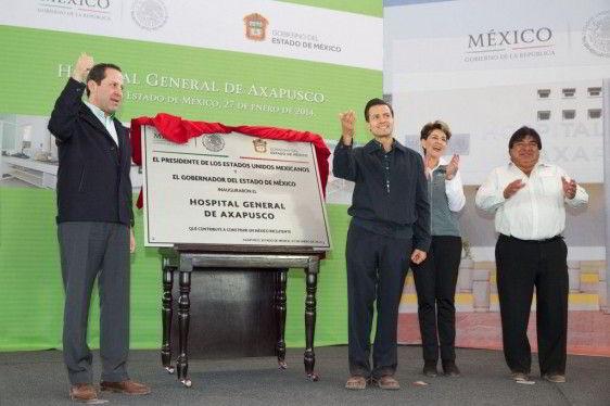 Presidente Enrique Peña Nieto en Hospital General de Axapusco