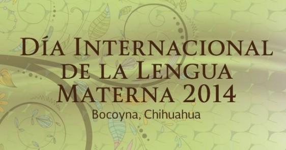 Logotipo de conferencia en bocotna chihuahua del día internacional de la lengua materna