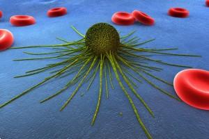 representación 3D de una celula de cáncer