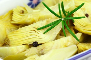 Receta carpacho de alcachofa