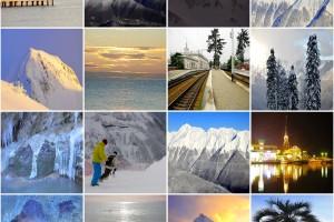 Collage de fotografías de la región de Sochi