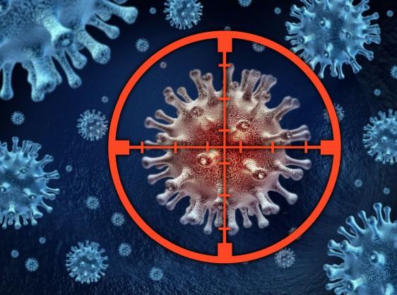 Ilustración de una celula en la mira