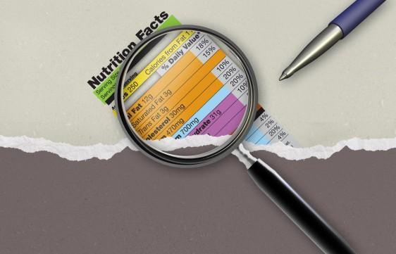 Ilustración de una etiqueta nutricional