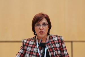 Susana Muñiz, Ministra de Salud Pública de Uruguay acercamiento de frente