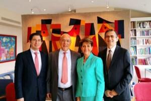Dionisio Pérez Jácome, Agustín García López Loaeza, José Ángel Gurría y Mercedes Juan