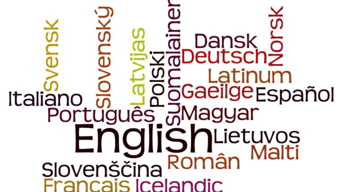 nube de palabras con idiomas