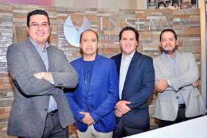 Dr. Enrique Islas, Biol. Victor Romero, Dr. Mario Cristo, Dr. Abraham Martínez