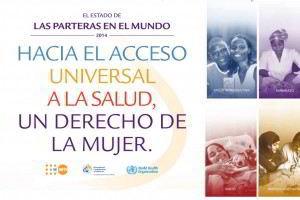 Portada del Estado de la Partería en el Mundo 2014: Hacia el Acceso Universal a la Salud – Un Derecho de la Mujer