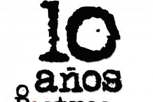 """Logotipo 10 años Rostros de la Discriminación """"Gilberto Rincón Gallardo""""."""