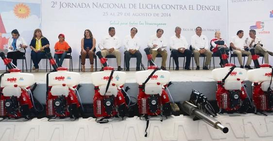 Funcionarios sentados en la presentación de Segunda Jornada Nacional contra el Dengue y prevención del chikungunya