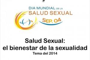 """Ilustración con el texto """"4 de septiembre de 2014, Día Mundial de la Salud Sexual La salud sexual: el bienestar de la sexualidad"""""""