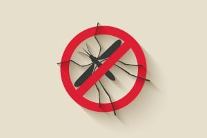 Ilustración de prohibido mosquitos