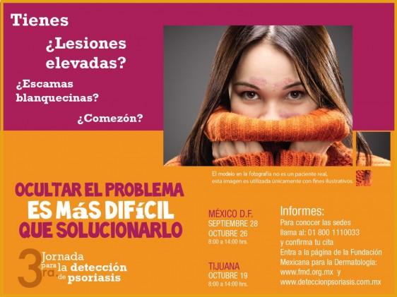 Cartel de la Tercer Jornada para la Detección de Psoriasis