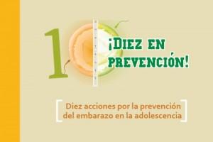 """Ilustración del concurso con el texto """"¡Diez en prevención! Diez acciones por la prevención del embarazo en la adolescencia"""""""
