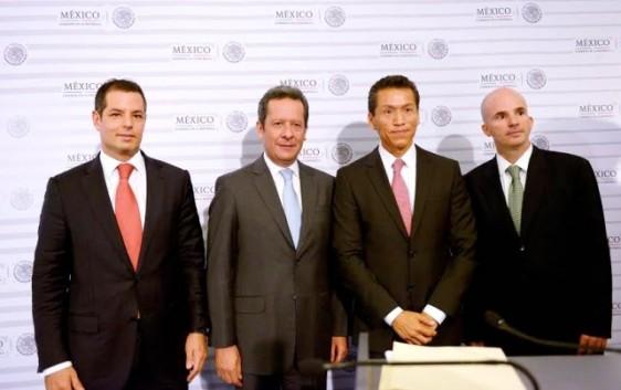 Eduardo Sánchez Hernández, Aristóteles Núñez Sánchezm Alejandro Murat Hinojosa y José Antonio González Anaya;