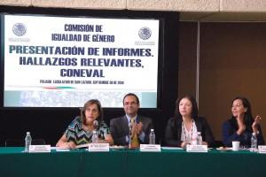 Martha Lucía Mícher Camarena, Gonzalo Hernández Licona, Rosario Cárdenas Elizande y María del Rocío García Olmedo
