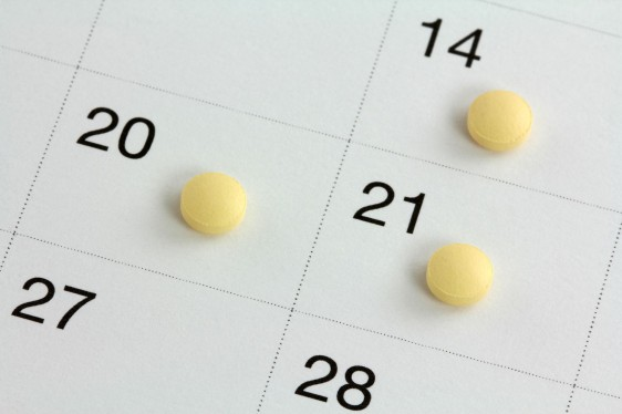 Calendario con pastillas anticonceptivas
