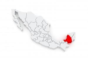 Ilustración 3D del Estado de Campeche