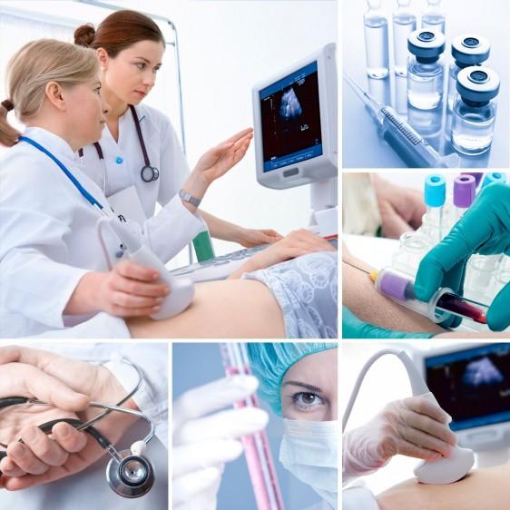 Mosiacde imagenes de investigación de diabetes