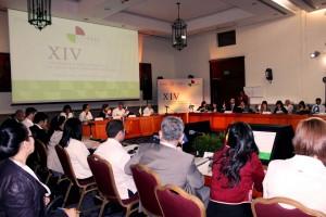 Sala de conferencias de la Conferencia Iberoamericana de Ministras y Ministros de Salud