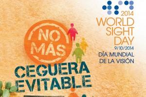 Cartpel de con el texto del Día Mundial de la Visión, 9 de octubre de 2014