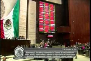Cámara de Diputados aprobó minuta sobre derechos de niñas, niños y adolescentes; la devuelven al Senado con cambios
