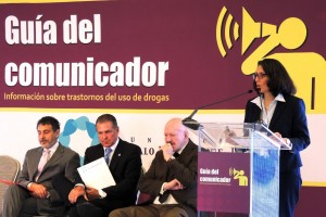 La presentación estuvo encabezada por Gilberto Borja, presidente del Comité de Adicciones de la Fundación Gonzalo Río Arronte; Manuel Mondragón y Kalb, Comisionado Nacional contra las Adicciones; y Antonio Mazzitelli, representante de la UNODC. Durante el evento se realizó un panel de discusión moderado por Juan Ramón de la Fuente.