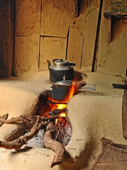 Cocina con leña