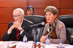 De izquierda a derecha Leobardo Ruiz y Mercedes Juan
