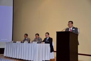 Dr. Francisco Martinez Flores, Dr. José Salvador Aburto Morales Dr. Adalberto Poblano Ordoñez y el Lic. Alfonso Gil Ballesteros