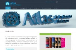 Captura de la portada del sitio del Atlas de la Ciencia Mexicana