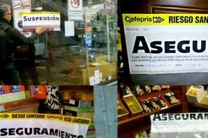 Mosaico de fotografías de la clausura y aseguramiento
