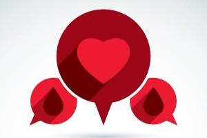 Ilustración de dialogo de sistema circulatorio y corazón