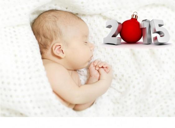 Bebé con ilustración del año 2015
