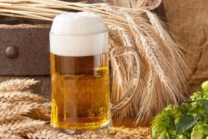 Cerveza en un tarro