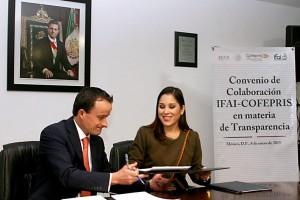 Mikel Arriola, y Ximena Puente de la Mora