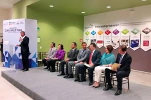 Rafael Moreno Valle, Jesús Vizcarra Calderón e invitdos en la inaguración