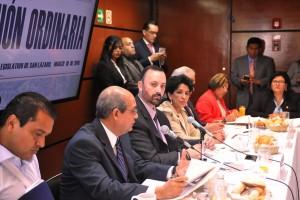 Diputados de la Comisión de Salud en una mesa de trabajo