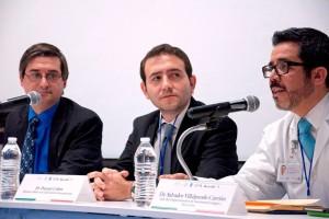 De izquierda a derecha David Weinstein. Daniel Cohen y Salvador Villalpando